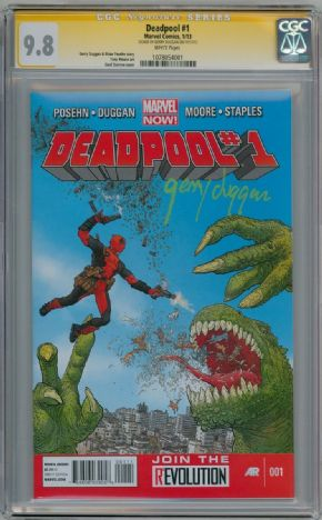 Deadpool #1 First Print CGC 9.8 Signature Series Signed Gerry Duggan Marvel Now comic book
